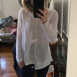 Anthropologie long sleeve white t-shirt